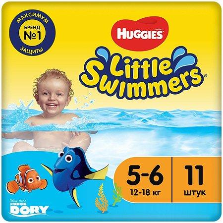 Подгузники-трусики для плавания Huggies Little Swimmers 5-6 12-18кг 11шт