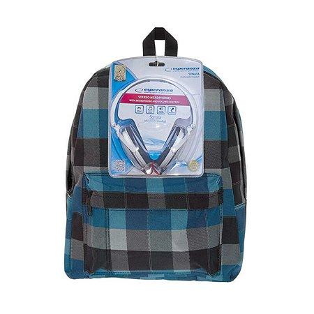 Рюкзак 3D-Bags Клетка (синий-черный)