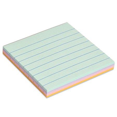 Блок бумажный HOPAX Magic самоклеящийся 100л пастель 4 цвета