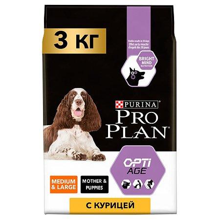 Корм для собак PROPLAN пожилых средних и крупных пород с комплексом Optiage курица c рисом 3кг