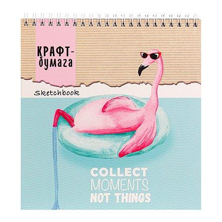 Скетчбук Prof Press Фламинго в отпуске 40л 40-5656