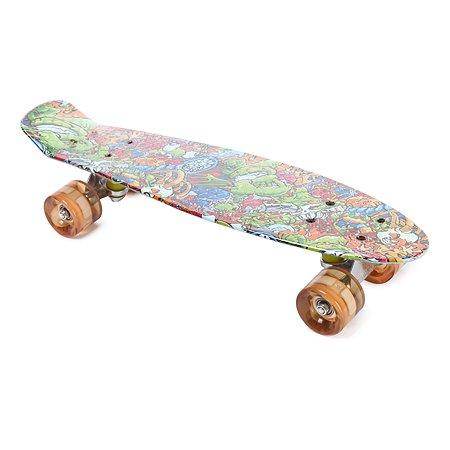Скейтборд ASE-SPORT с аквапринтом ASE-Tiny-Aqua-3