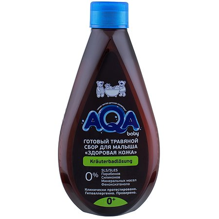 Сбор для купания AQA baby Здоровая кожа травяной 400мл