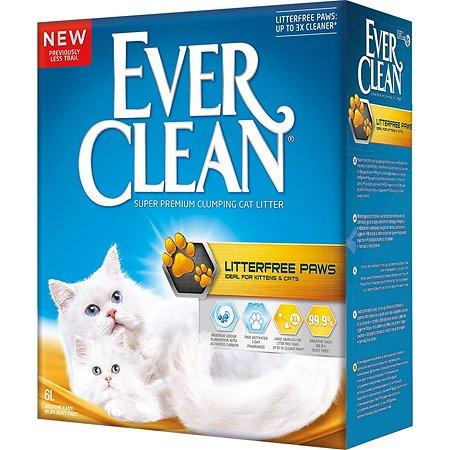 Наполнитель для кошек EVER CLEAN LitterFree Paws длиношерстных пород комкующийся с ароматом свежести 6л