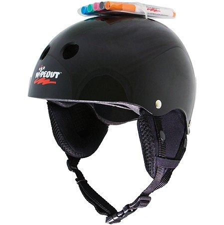 Шлем защитный WIPEOUT зимний с фломастерами Black. Размер М 5+ - Черный WIPEOUT