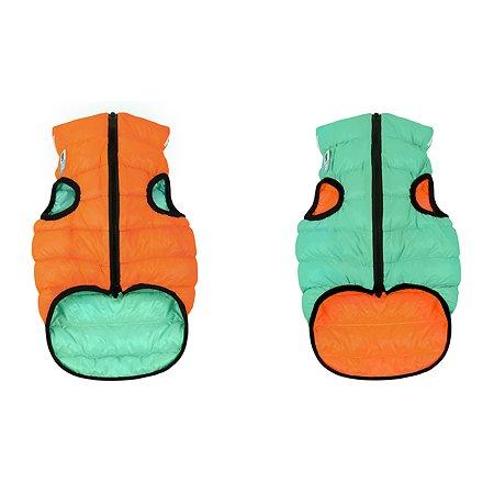Курточка для собак Airyvest Lumi двусторонняя М 40 Оранжевая-Салатовая
