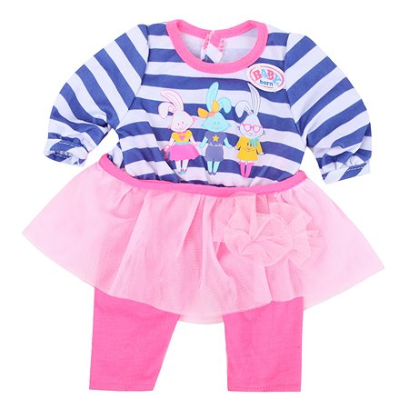 Наряд для куклы Zapf Creation Baby Born с шапочкой Фиолетовый 824-528