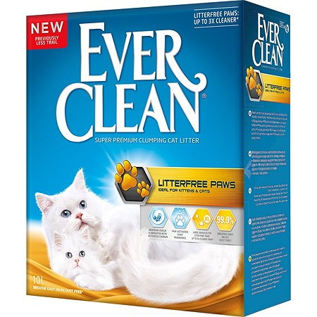 Наполнитель для кошек EVER CLEAN LitterFree Paws длиношерстных пород комкующийся с ароматом свежести 10л