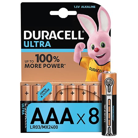 Батарейки Duracell UltraPower AAА 8шт 5004808