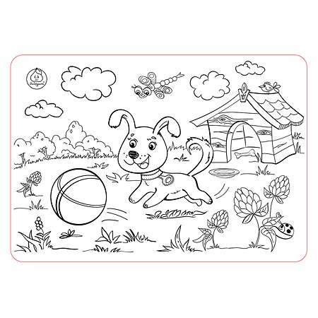 Коврик-раскраска ЯиГрушка Собачка 59888