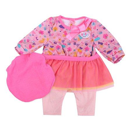Наряд для куклы Zapf Creation Baby Born с шапочкой Розовый 824-528