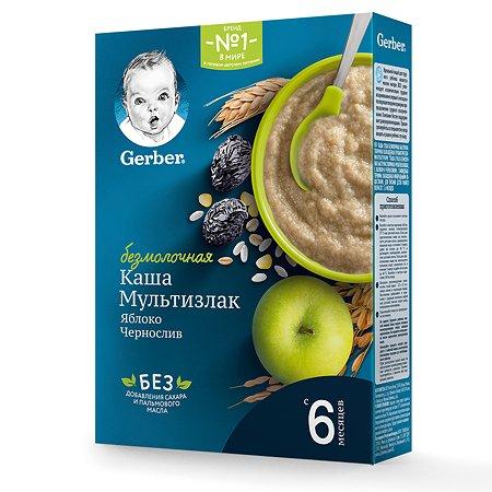 Каша безмолочная Gerber мультизлаковая чернослив-яблоко 180г с 6месяцев