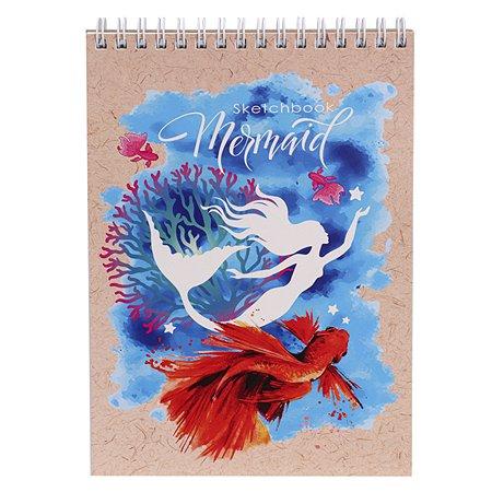 Скетчбук Prof Press Рыбка и русалка А5 30л 30-6016
