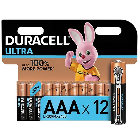 Батарейки Duracell UltraPower AAА 12шт 5004810