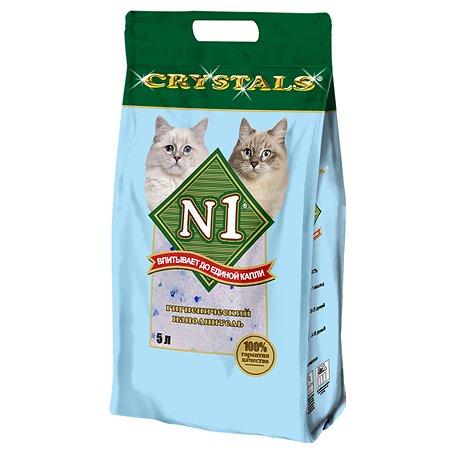 Наполнитель для кошек N1 Crystals силикагелевый 5л 12087