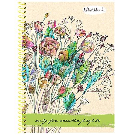 Скетчбук Prof Press Букет полевых цветов А5 64л 64-1371