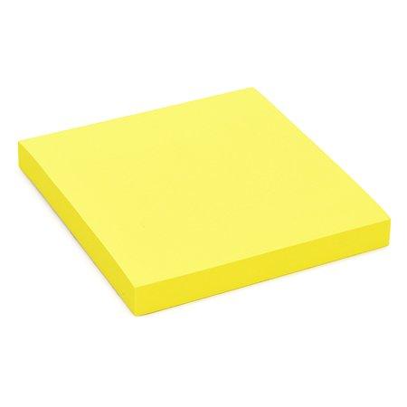 Блок бумажный HOPAX самоклеящийся 100л неон Желтый