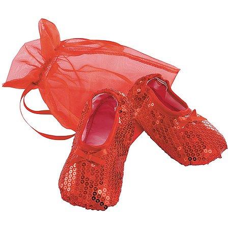 Обувь ELC Карнавальный аксессуар Балетки красные 139201