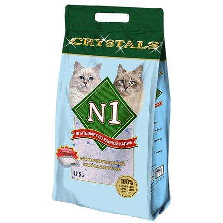 Наполнитель для кошек N1 Crystals силикагелевый 12.5л 19024