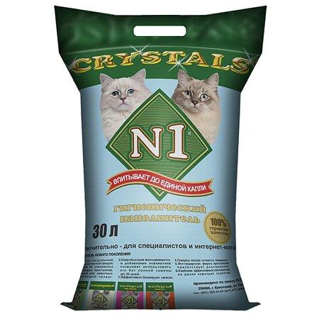 Наполнитель для кошек N1 Crystals силикагелевый 30л 29976
