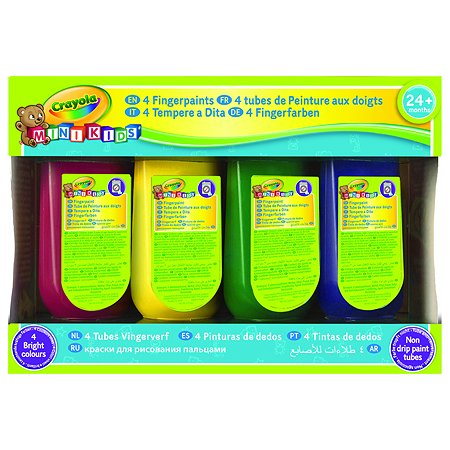 Пальчиковые краски Crayola смываемые 4 цв