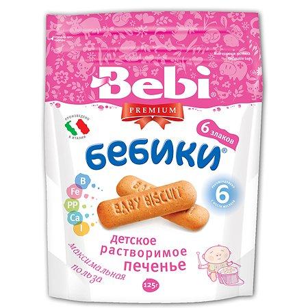 Печенье Bebi Бебики детское растворимое 6 злаков (с 6 мес.) 125 г