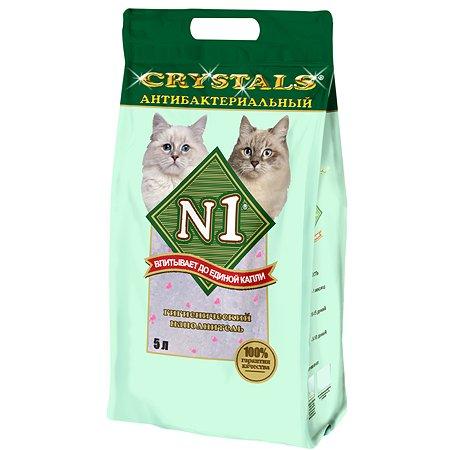 Наполнитель для кошек N1 Crystals силикагелевый 5л 12088