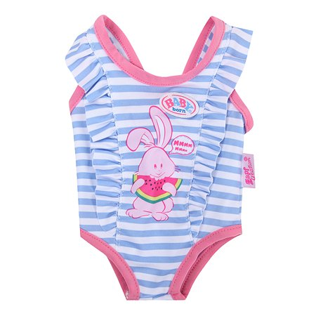 Костюм для куклы Zapf Creation Baby Born для плавания Зайчик 824-580