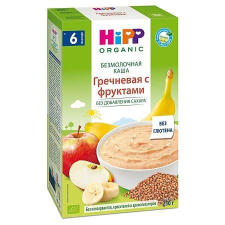 Каша Hipp безмолочная гречка-фрукты 200г с 6месяцев
