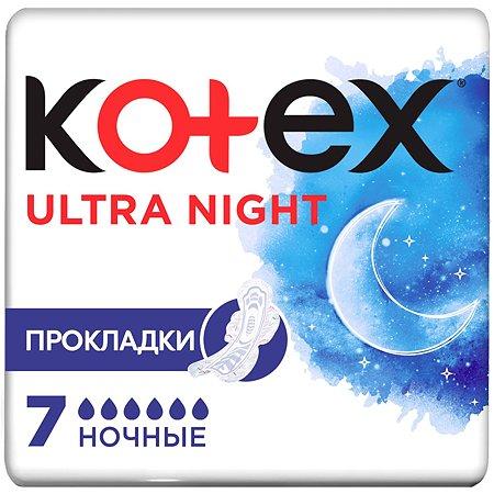 Прокладки KOTEX Ультра Драй Софт Найт с крыл. (7/16)