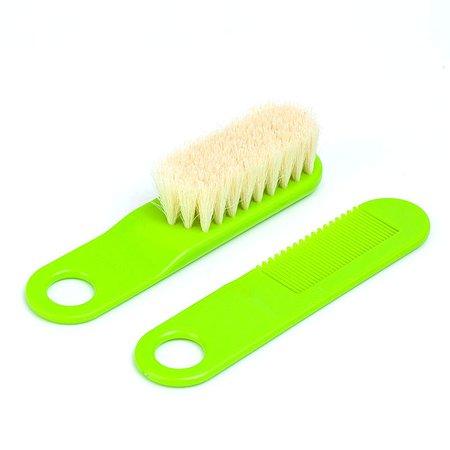 Щетка для волос Canpol Babies натуральная Зеленая 2/424