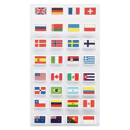 Наклейка декоративная зефирная Липляндия Флаги