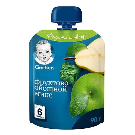 Пюре Gerber фруктово-овощной микс 90г с 6месяцев