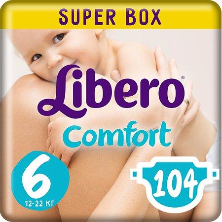 Подгузники Libero Comfort 6 12-22кг 104шт