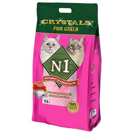 Наполнитель для кошек N1 Crystals for girls силикагелевый 12.5л 99765