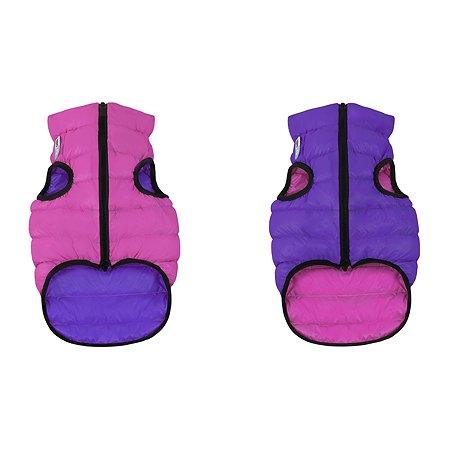 Курточка для собак Airyvest двусторонняя S 30 Розовая-Фиолетовая