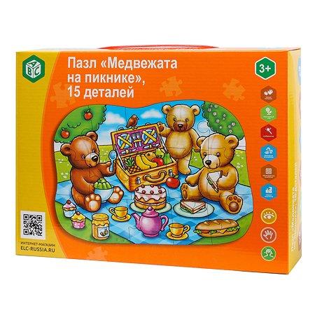 Пазл ABC Медвежата на пикнике 15деталей YJ188190032