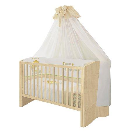 Кроватка Polini kids Simple 140*70см Натуральный