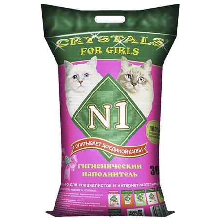 Наполнитель для кошек N1 Crystals for girls силикагелевый 30л 62035