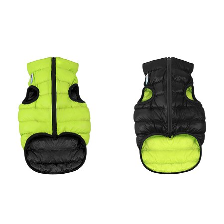 Курточка для собак Airyvest двусторонняя S 35 Салатовая-Черная