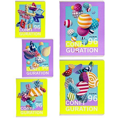 Тетрадь Collezione Яркая геометрия А5 Клетка 96л в ассортименте 96-3080
