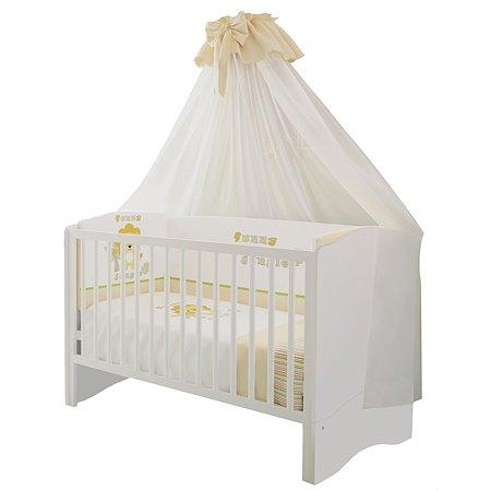Кроватка детская Polini kids Simple 140*70 Белый