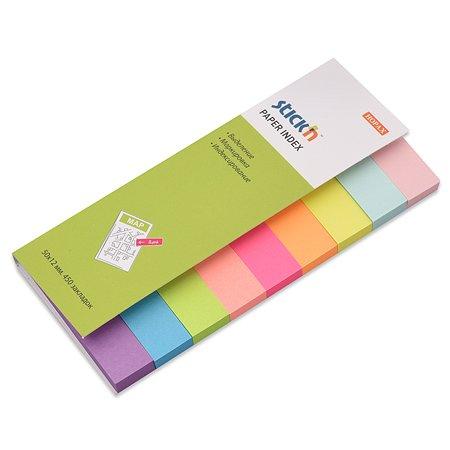 Закладки HOPAX пластиковые самоклеящиеся 450л 9 цветов