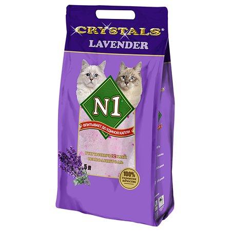 Наполнитель для кошек N1 Crystals с ароматом лаванды силикагелевый 5л 36741
