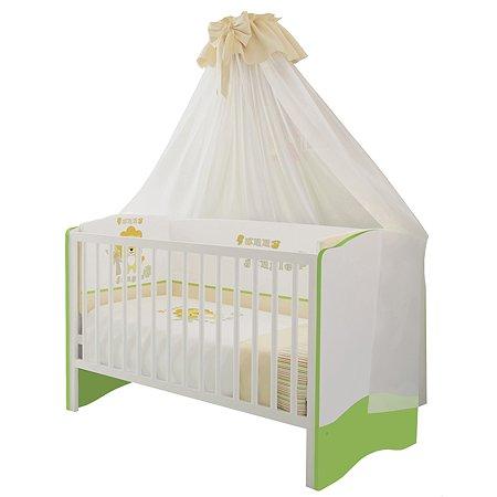 Кроватка Polini kids Simple 140*70 Белый-Лайм