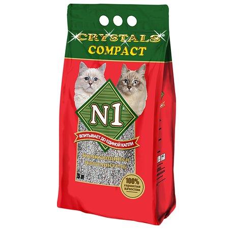 Наполнитель для кошек N1 Crystals compact комкующийся 5л 12090