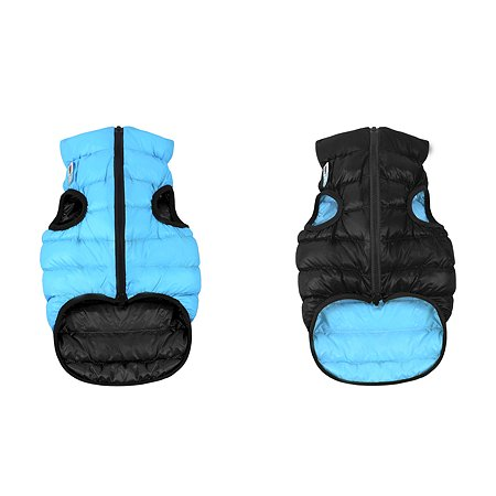 Курточка для собак Airyvest двусторонняя М 45 Черная-Голубая