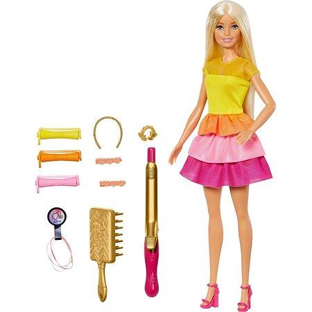 Кукла Barbie в модном наряде с аксессуарами для волос GBK24