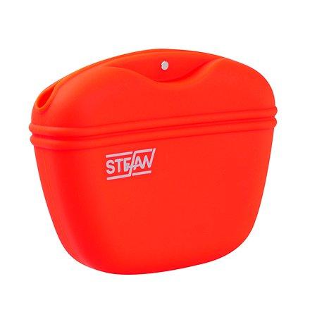 Сумочка для корма Stefan силиконовая красная Stefan