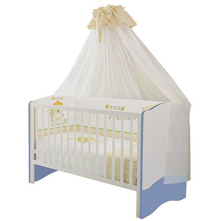 Кроватка Polini kids Simple 140*70 Белый-Синий